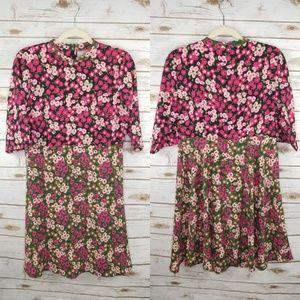 Asos floral colorblock dress